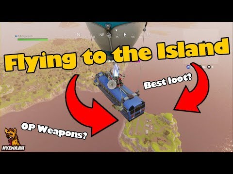 Flying To The Island in Fortnite Battle Royale