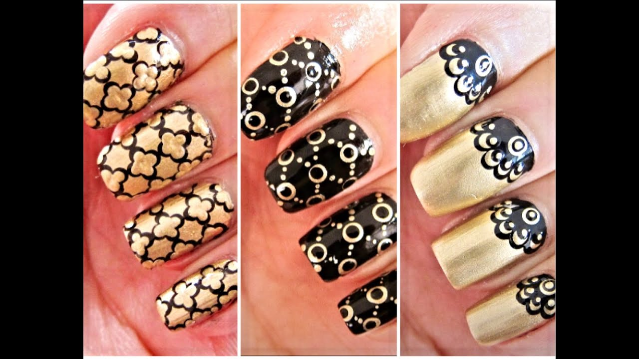 3 easy nail art for beginners using a dotting tool youtube prinsesfo Gallery
