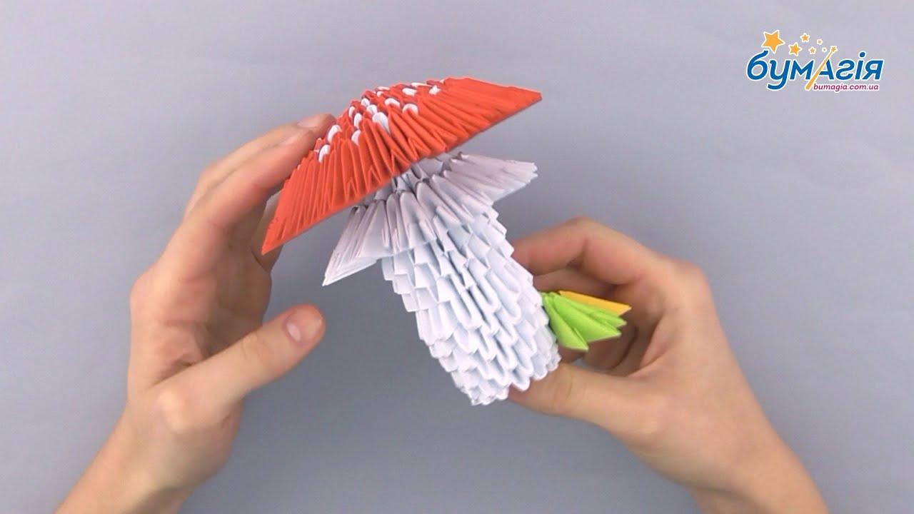 Оригами гриб мухомор схема фото 783