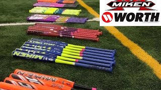 Testing out the new 2018 Miken and Worth softball bats