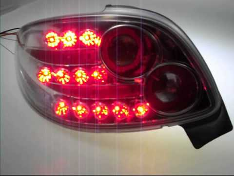 led rückleuchten peugeot 206cc chromesw-tuning - youtube