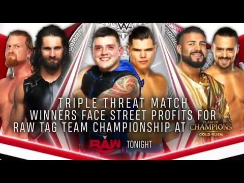 Download Dominik Mysterio & Humberto Carrillo vs Seth Rollins & Murphy vs Andrade & Angel Garza (Part 1)