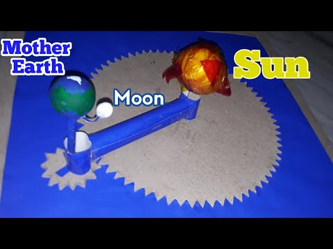 Crafts Working Model of Sun Moon Earth revolution and rotation