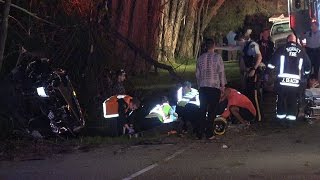 4K Car Crash Rescue, Rollover 80th Ave. Surrey, B.C. Canada 08/04/2016