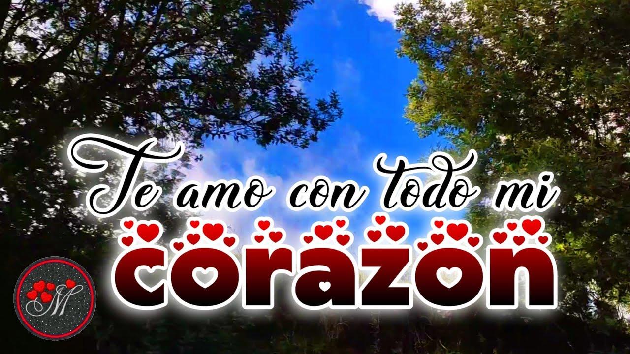 TU NOMBRE está en mi corazón ❤️ TE AMO con toda mi alma ❤️ Mensajes de amor para enamorar