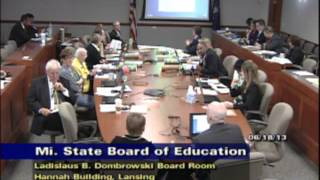 June 16, 2013 Michigan State Board of Education Meeting - Morning