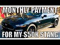 How Much my Monthly Payment is for my new 2018 Ford Mustang GT, Plus insurance costs!