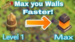 How to UPGRADE your WALL'S and MAX them | Fastest STRATEGY! | Clash Of Clans