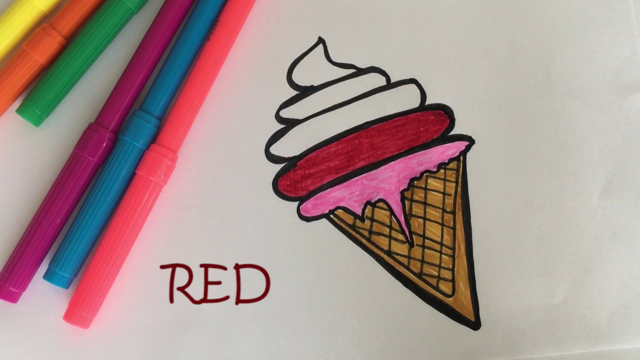 Boyama Dondurma çocuk Eğlenceli Video Painting Ice Cream Funny