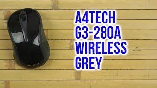 Распаковка A4Tech G3-280A Wireless Grey