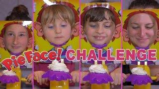 challenge pie face challenge avec cousines studio bubble tea unboxing pie face game
