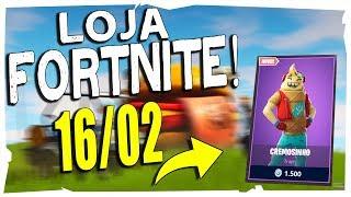 Loja Fortnite - Loja De Hoje 16/02/2019 nova skin do ticolé