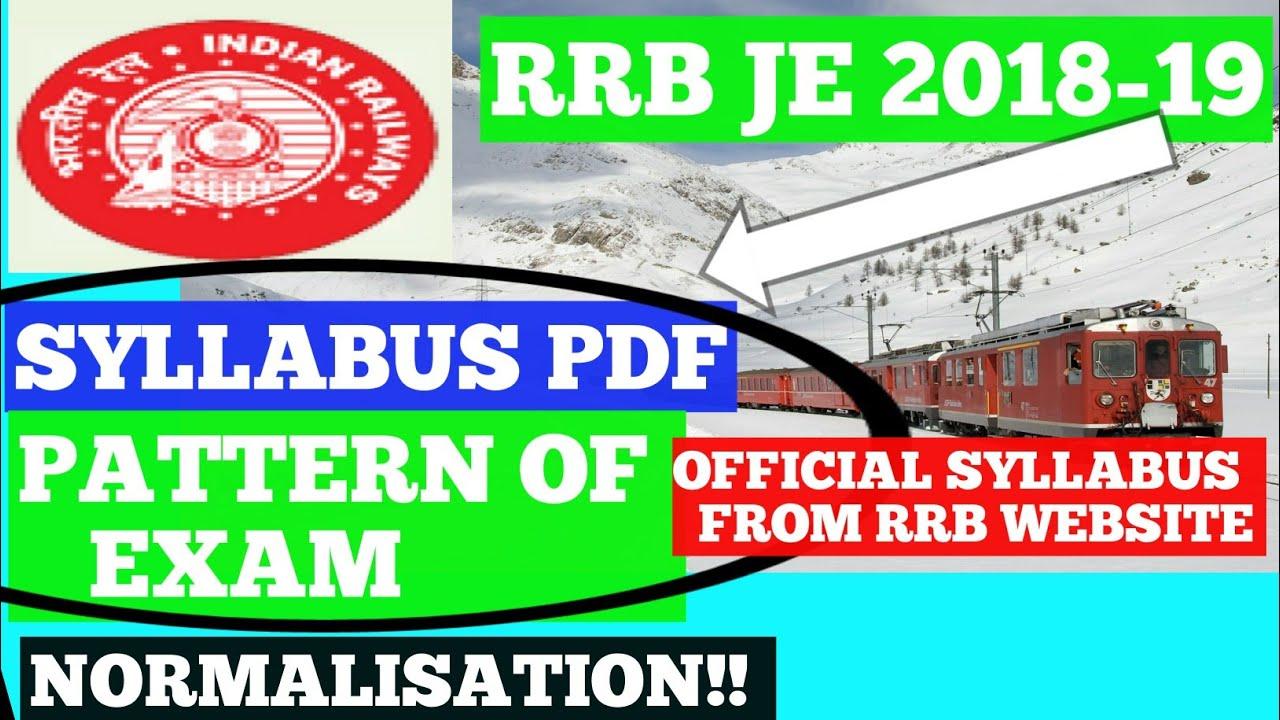Rrb Exam Syllabus Pdf File