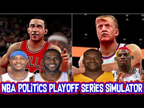 Team Barack Obama vs Team Donald Trump! NBA Republicans vs NBA Democrats Playoff Series Simulator