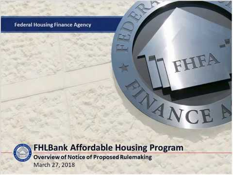 Federal Home Loan Banks' Affordable Housing Program Webinar