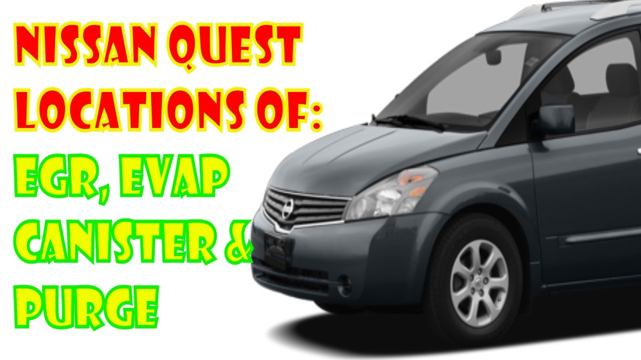 Nissan quest emissions locations evap and egr youtube nissan quest emissions locations evap and egr vanachro Gallery
