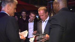 Dolph Lundgren, Arnold Schwarzenegger, Terry Crews at Arn...