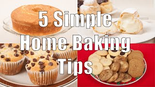 5 Simple Home Baking Tips (Home Cooking 101) DiTuro Productions