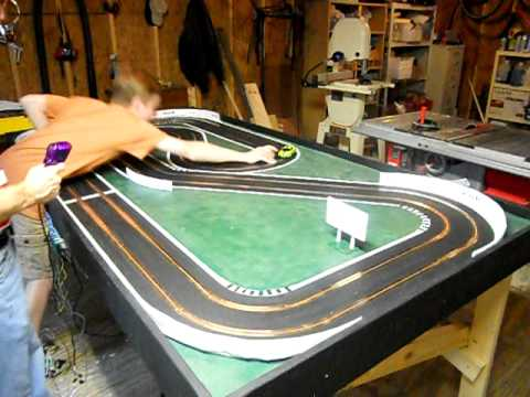 Homemade Wooden Slot Car Track Youtube