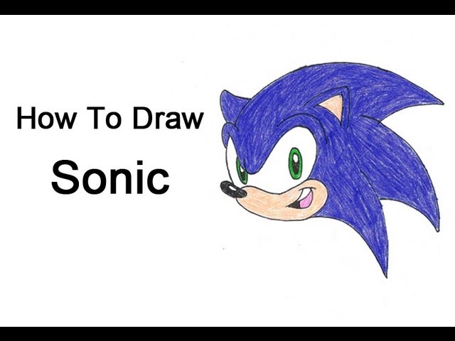 How To Draw Sonic The Hedgehog Youtube