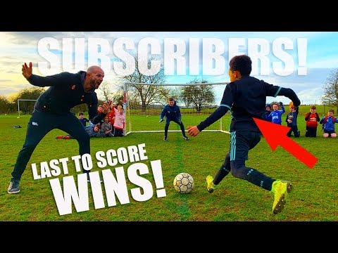 Last Subscriber To Score 1v1 Wins Football Boots! thumbnail