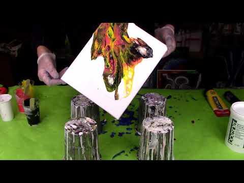 Acryl Gießen(429) Test Mit Inpasto Medium