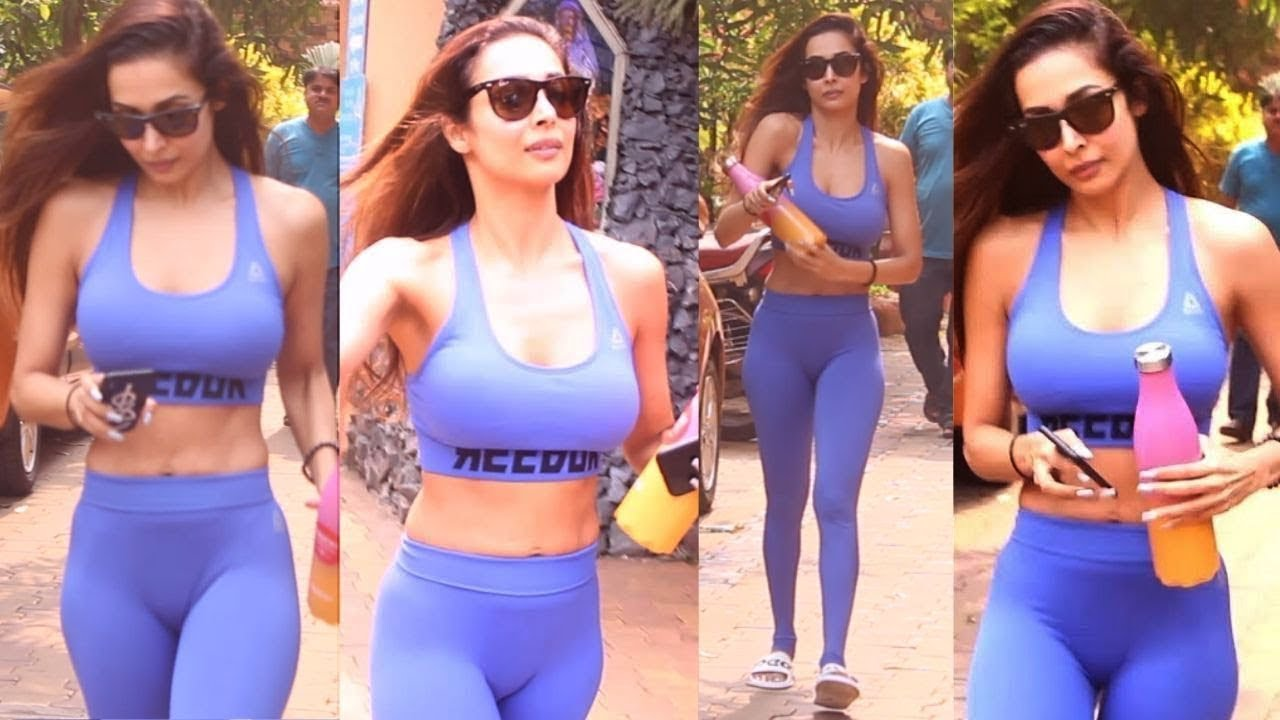 Malaika Arora @H0T In Tight Workout Outfits Diva Yoga Post Workout Session  - YouTube