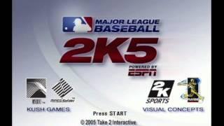 MLB 2k5 Title Screen (Xbox)