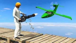 HEAVY WEAPONS vs. SUPER FAST PLANES! (GTA 5 Minigames)