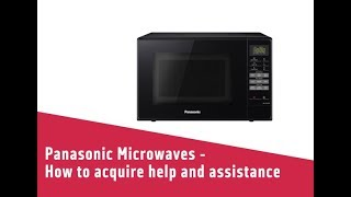 Panasonic Microwaves How to acquire help and assistance