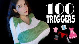 ASMR 👗🧦 100 TRIGGERS in 9 MINUTES SCRATCHING CLOTH 🧤👕 АСМР 100 ТРИГГЕРОВ одежды за 9 МИНУТ