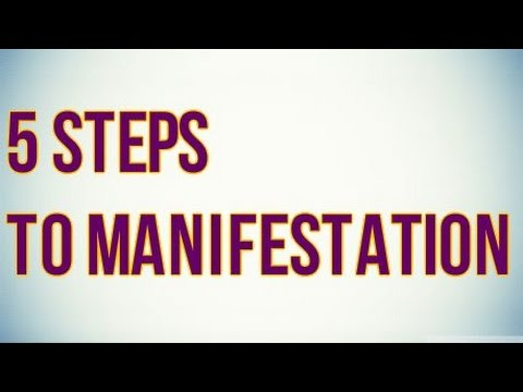 5 Simple Steps To Manifesting Your Desires!  (Law Of Attraction)