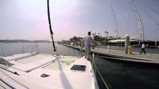 ASA 114 Catamaran Cruising - Docking with Spring Lines