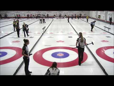 Angle raise takeout by Eve Muirhead (Canad Inns Women's Classic 2018)