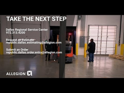 Allegion Dallas Regional Service Center Facility Tour