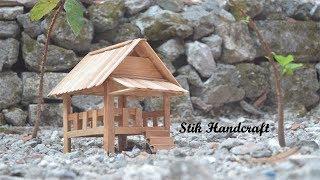 Cara Membuat Kerajinan Gubuk Dari Stik Es Krim | Handcraft