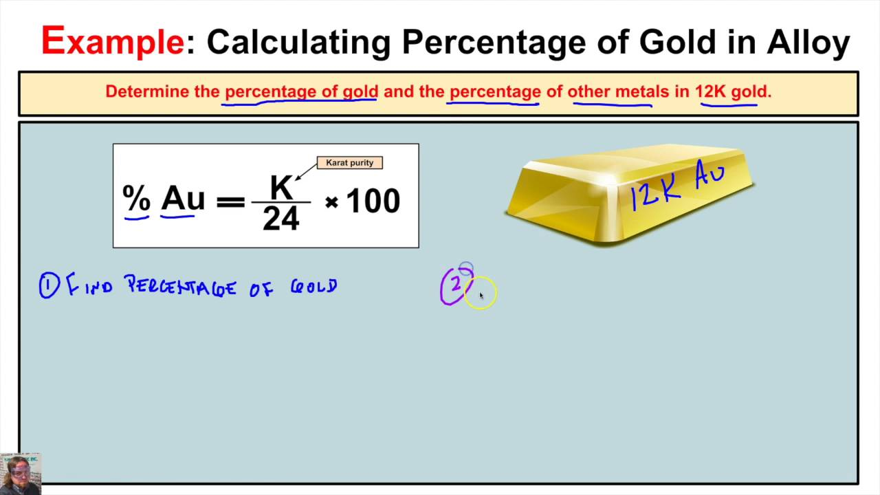 How To Calculate The Percentage Of Gold And Other Metals In A Alloy