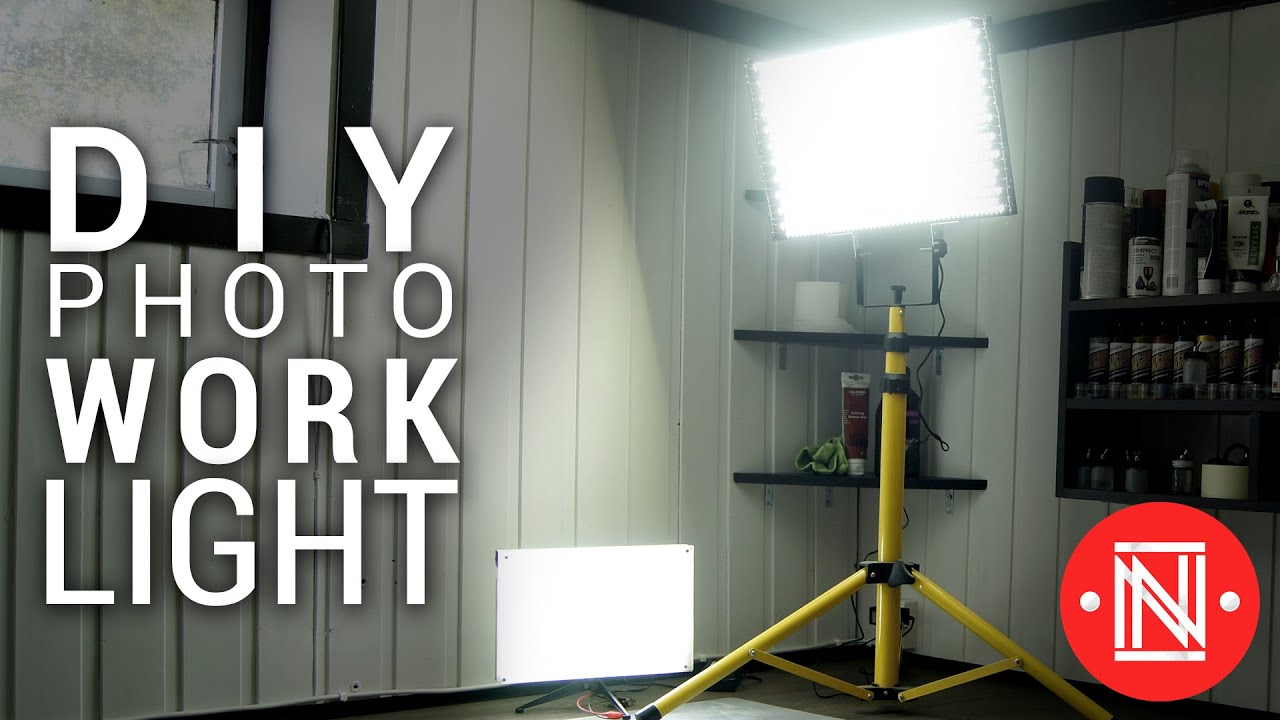 Cheap LED Photo/Work Light Panel Under 20$! || DIY ...