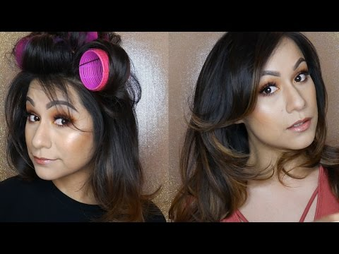 hair-tutorial|-how-i-style-my-hair-with-velcro-rollers!