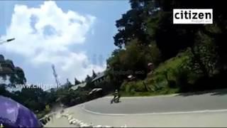 Ananda Wedisinghe Accident In Nuwaraeliya Road Race Video