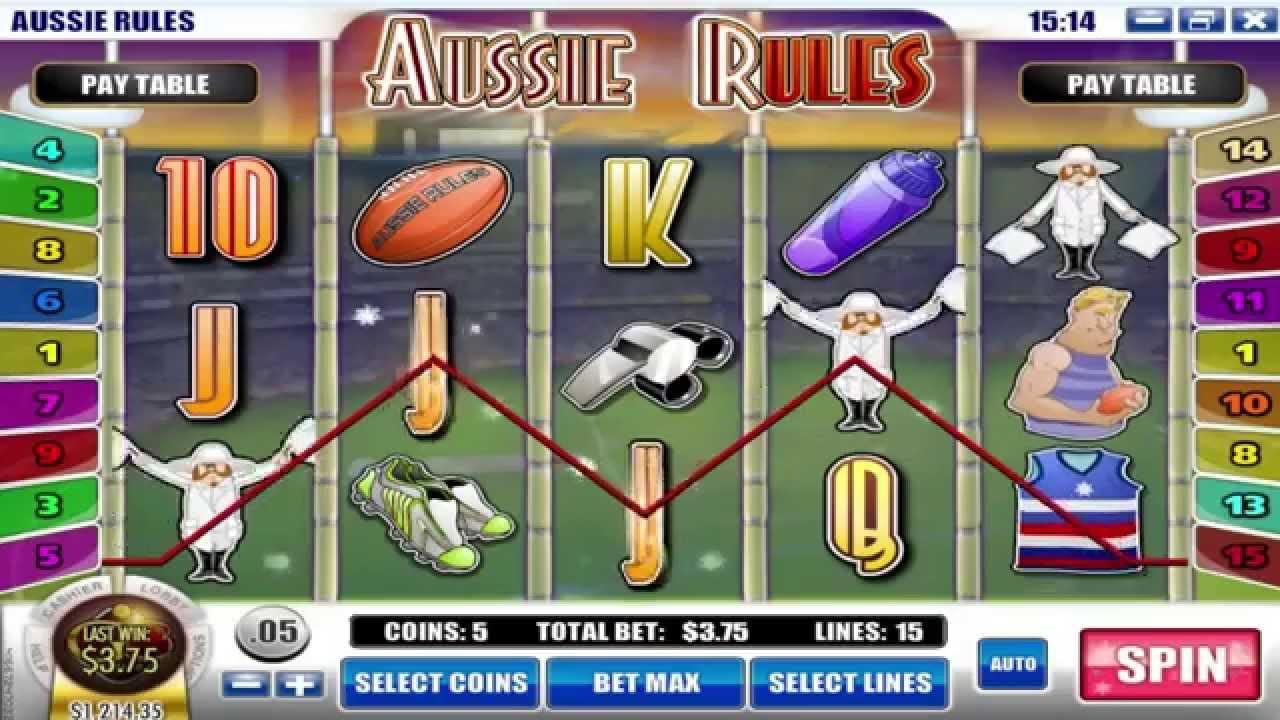 Aussie Rules Slot Machine