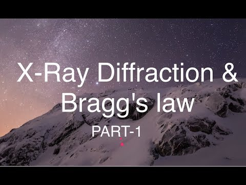 X-Ray diffraction and Bragg's law problems discussion part-1
