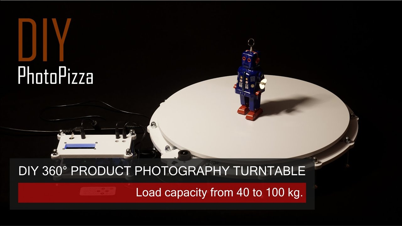 Do it yourself turntable for 360 degree product photography youtube solutioingenieria Gallery