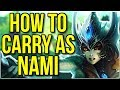 How to Carry as Nami | Full Game Commentary - League of Legends