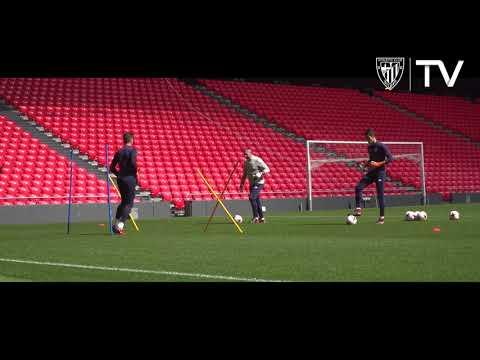 Bilbao Athleticen lan saioa San Mamesen / Entrenamiento del Bilbao Athletic en San Mamés