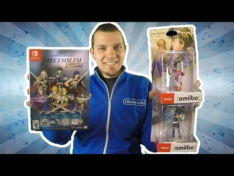 Fire Emblem Warriors Special Edition and Chrom & Tiki amiibo Unboxing!  [🔴LIVE]