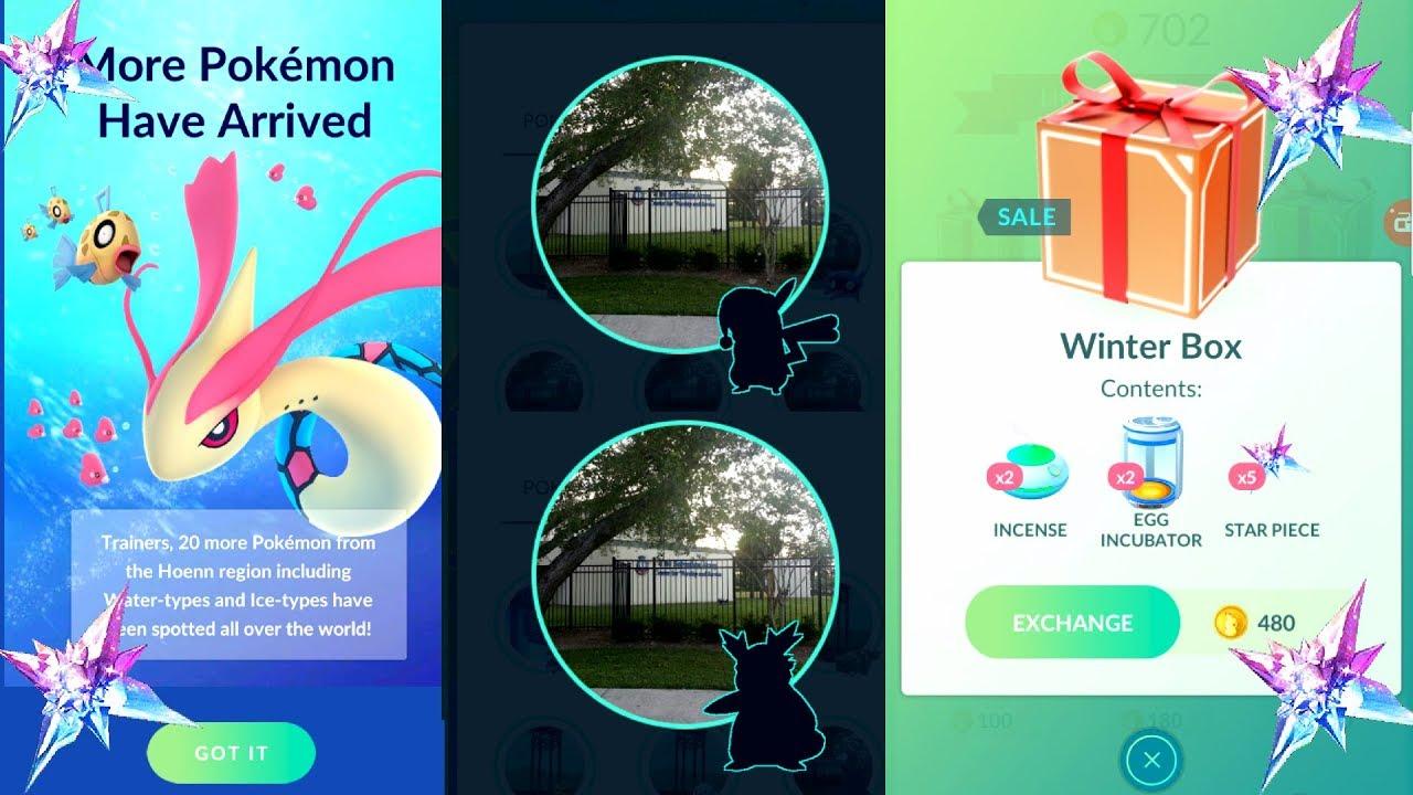 Pokemon Go Christmas Boxes.Pokemon Go Delibird Winter Box Starpiece Santa Pikachu 20 New Gen3 Water Type Pokemon