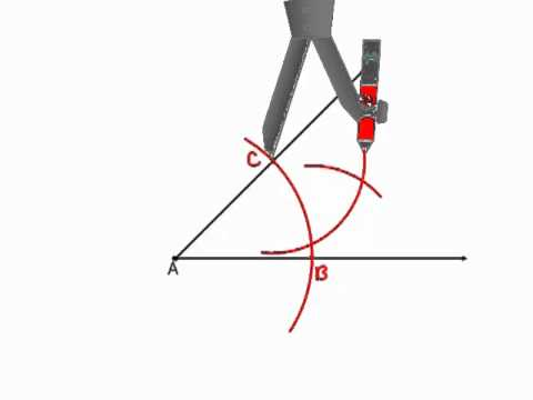 Geometry - Constructions 5 - Angle Bisector