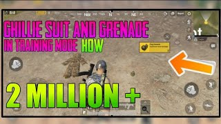 How To Get Frag Grenade And Ghillie Suit In Training Mode - Pubg Mobile