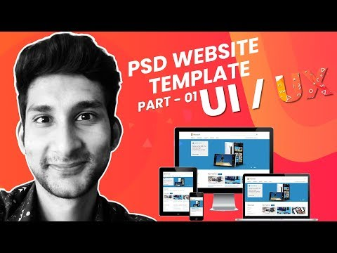 How To Design PSD Website Template In Photoshop   Bangla Tutorial 2019   Part - 01